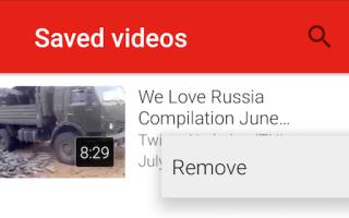 Как удалить сохраненные видео YouTube, чтобы освободить место