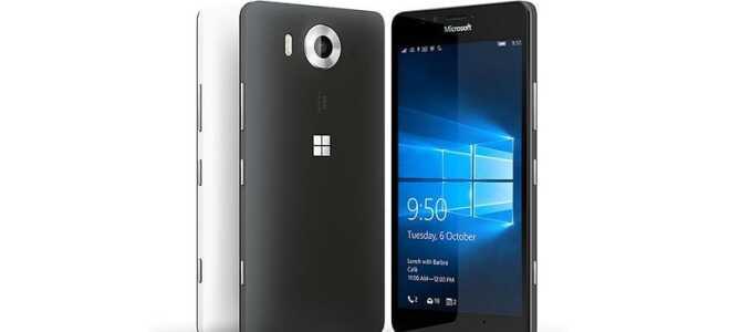 Технические характеристики смартфона Microsoft Lumia 950