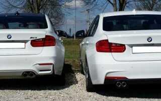 BMW 328i F30 и BMW M3 разница в оптике — картинки
