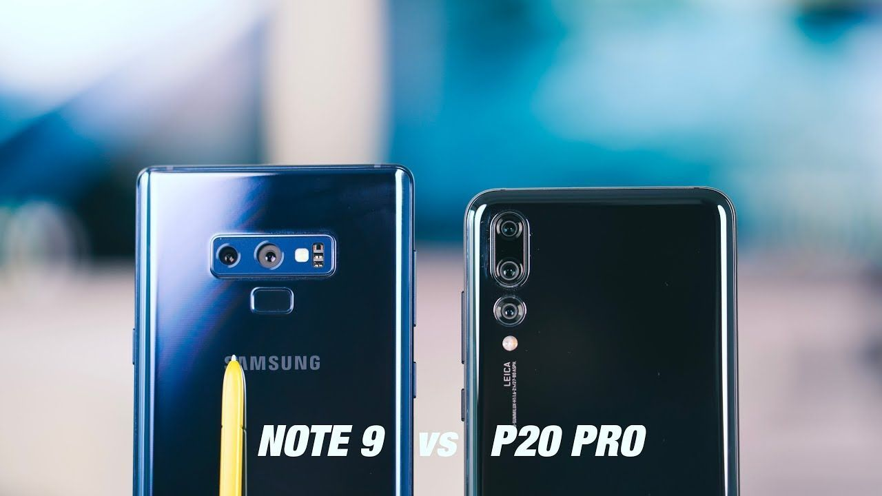 Сравните: Huawei P20 Pro против Samsung Galaxy Note 9