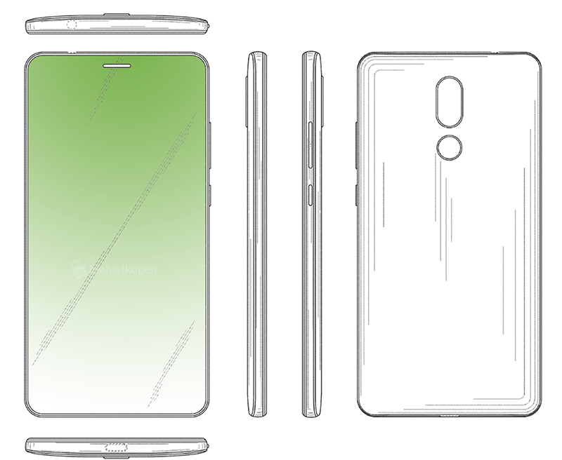 Huawei's new patent reveals a bezel-less display with hidden front-facing camera and in-display Earpiece