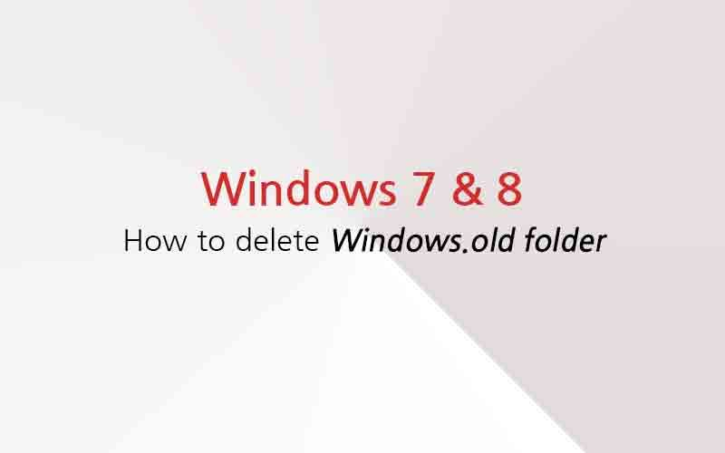 Папка Windows.old - Как удалить на Windows 7 и Windows 8