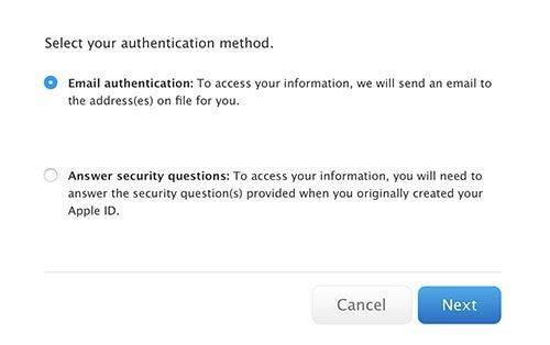 сбросить Apple Store ID и пароль