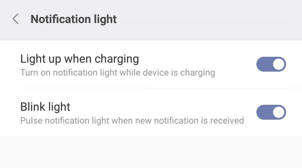 Poco F1 Notification Light