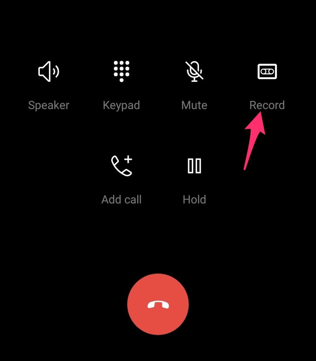 OnePlus 7 Call Record